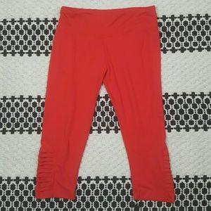 Red super soft Capri workout yoga leggings